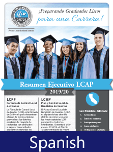 2019-20 LCAP Executive Summary cover - Spanish