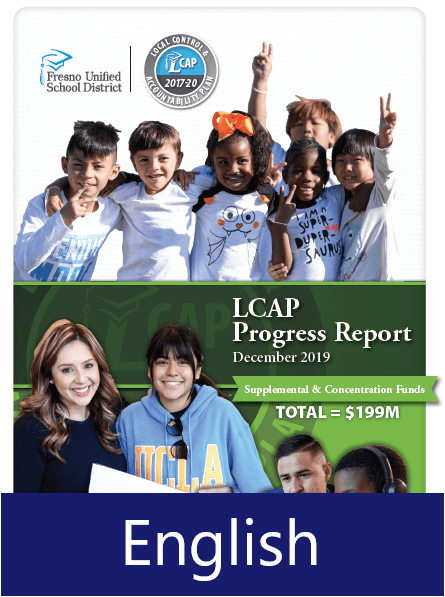 Local Control and Accountability Plan Progress Report - English Cover