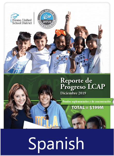 Local Control and Accountability Plan Progress Report - Spanish Cover